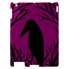 Halloween raven - magenta Apple iPad 2 Hardshell Case