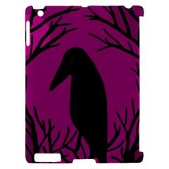 Halloween raven - magenta Apple iPad 2 Hardshell Case (Compatible with Smart Cover)