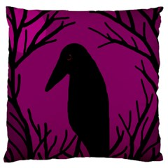 Halloween raven - magenta Large Cushion Case (One Side)