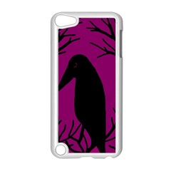Halloween raven - magenta Apple iPod Touch 5 Case (White)