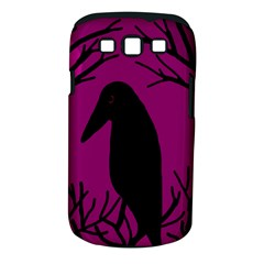 Halloween raven - magenta Samsung Galaxy S III Classic Hardshell Case (PC+Silicone)