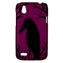 Halloween raven - magenta HTC Desire V (T328W) Hardshell Case
