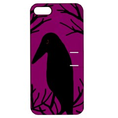 Halloween raven - magenta Apple iPhone 5 Hardshell Case with Stand