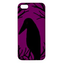 Halloween raven - magenta Apple iPhone 5 Premium Hardshell Case