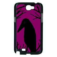 Halloween raven - magenta Samsung Galaxy Note 2 Case (Black)