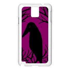 Halloween raven - magenta Samsung Galaxy Note 3 N9005 Case (White)