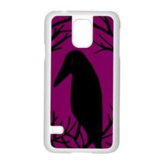 Halloween raven - magenta Samsung Galaxy S5 Case (White)
