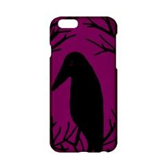 Halloween raven - magenta Apple iPhone 6/6S Hardshell Case