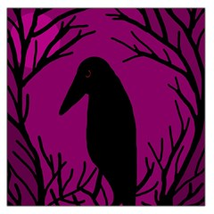 Halloween raven - magenta Large Satin Scarf (Square)
