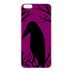 Halloween raven - magenta Apple Seamless iPhone 6 Plus/6S Plus Case (Transparent)