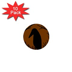 Halloween raven - brown 1  Mini Buttons (10 pack)