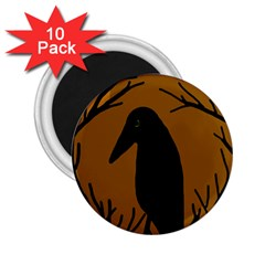 Halloween raven - brown 2.25  Magnets (10 pack)
