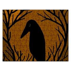 Halloween raven - brown Rectangular Jigsaw Puzzl