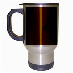 Halloween raven - brown Travel Mug (Silver Gray)