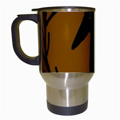 Halloween raven - brown Travel Mugs (White)