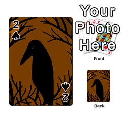 Halloween raven - brown Playing Cards 54 Designs