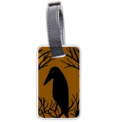 Halloween raven - brown Luggage Tags (Two Sides)