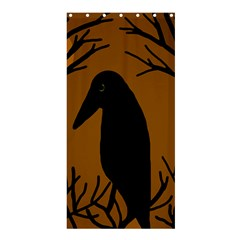 Halloween raven - brown Shower Curtain 36  x 72  (Stall)