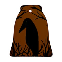 Halloween raven - brown Bell Ornament (2 Sides)