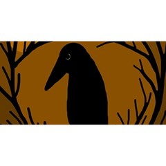 Halloween raven - brown YOU ARE INVITED 3D Greeting Card (8x4)