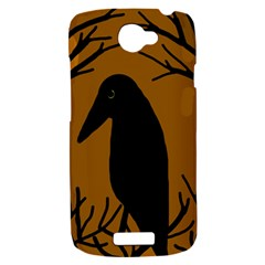 Halloween raven - brown HTC One S Hardshell Case