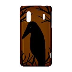 Halloween raven - brown HTC Evo Design 4G/ Hero S Hardshell Case
