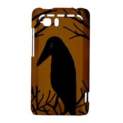 Halloween raven - brown HTC Vivid / Raider 4G Hardshell Case
