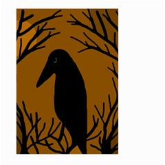 Halloween raven - brown Large Garden Flag (Two Sides)