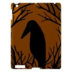 Halloween raven - brown Apple iPad 3/4 Hardshell Case