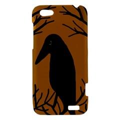 Halloween raven - brown HTC One V Hardshell Case
