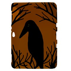Halloween raven - brown Samsung Galaxy Tab 8.9  P7300 Hardshell Case
