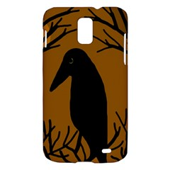 Halloween raven - brown Samsung Galaxy S II Skyrocket Hardshell Case