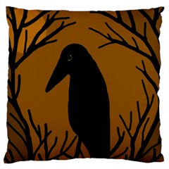 Halloween raven - brown Large Cushion Case (One Side)