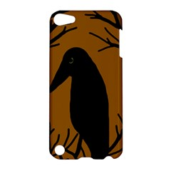 Halloween raven - brown Apple iPod Touch 5 Hardshell Case