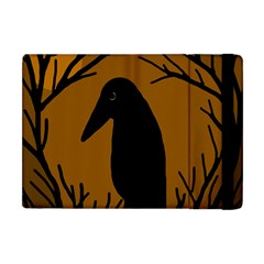 Halloween raven - brown Apple iPad Mini Flip Case