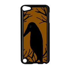 Halloween raven - brown Apple iPod Touch 5 Case (Black)