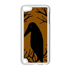 Halloween raven - brown Apple iPod Touch 5 Case (White)