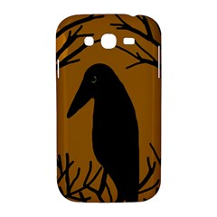 Halloween raven - brown Samsung Galaxy Grand DUOS I9082 Hardshell Case