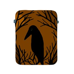 Halloween raven - brown Apple iPad 2/3/4 Protective Soft Cases