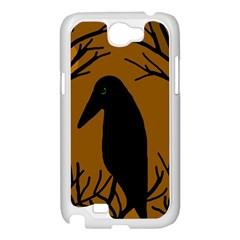 Halloween raven - brown Samsung Galaxy Note 2 Case (White)