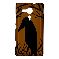 Halloween raven - brown Sony Xperia SP