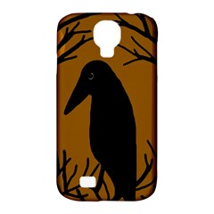 Halloween raven - brown Samsung Galaxy S4 Classic Hardshell Case (PC+Silicone)
