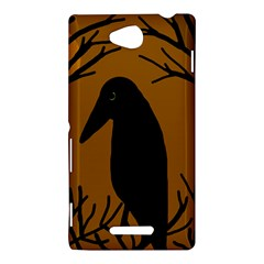 Halloween raven - brown Sony Xperia C (S39H)