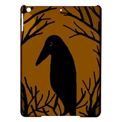 Halloween raven - brown iPad Air Hardshell Cases