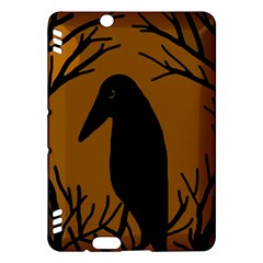 Halloween raven - brown Kindle Fire HDX Hardshell Case