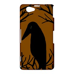 Halloween raven - brown Sony Xperia Z1 Compact