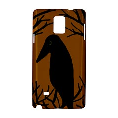 Halloween raven - brown Samsung Galaxy Note 4 Hardshell Case