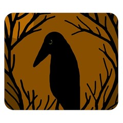 Halloween raven - brown Double Sided Flano Blanket (Small)