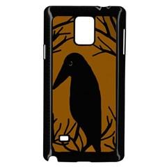 Halloween raven - brown Samsung Galaxy Note 4 Case (Black)