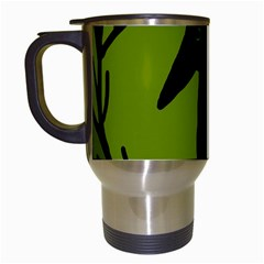 Halloween raven - green Travel Mugs (White)